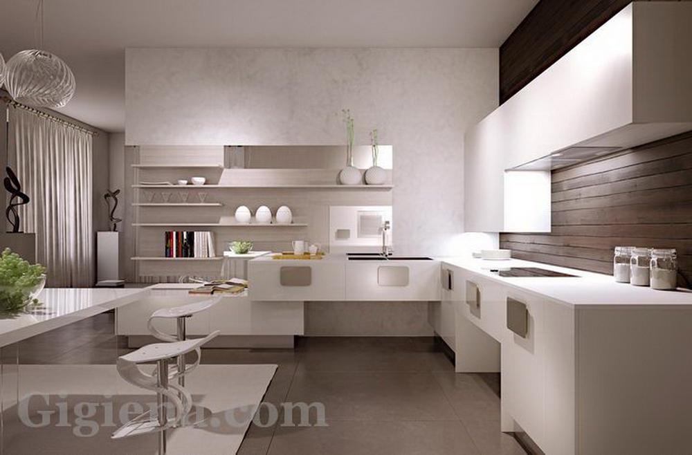 дизайн интерьера нестандартной кухни, интерьер кухни фото