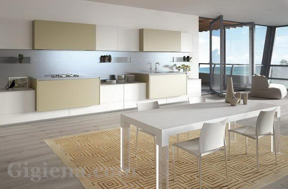 интерьер кухни картинки, интерьер удлиненной кухни