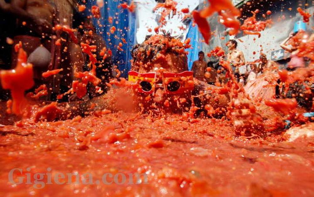 фестиваль tomatina