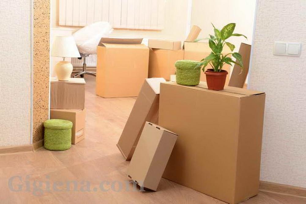 упаковка вещей и перезд