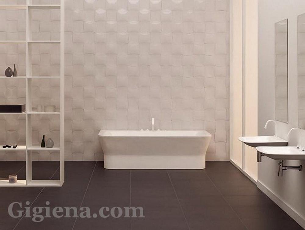 контрастная плитка для ванной