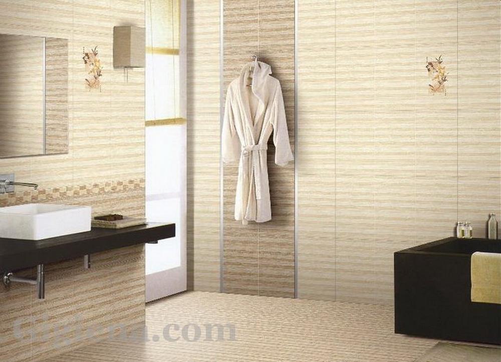 плитка в горизонтальную полоску для ванной