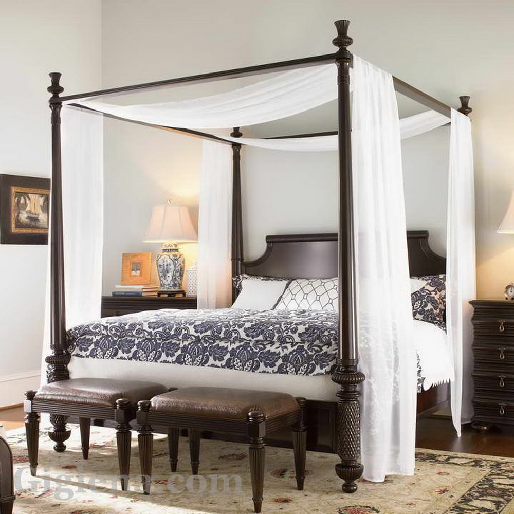 современная кровать с балдахином