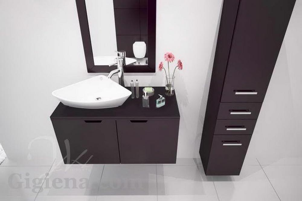 стильная пластиковая мебель в ванной
