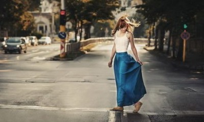 девушка город