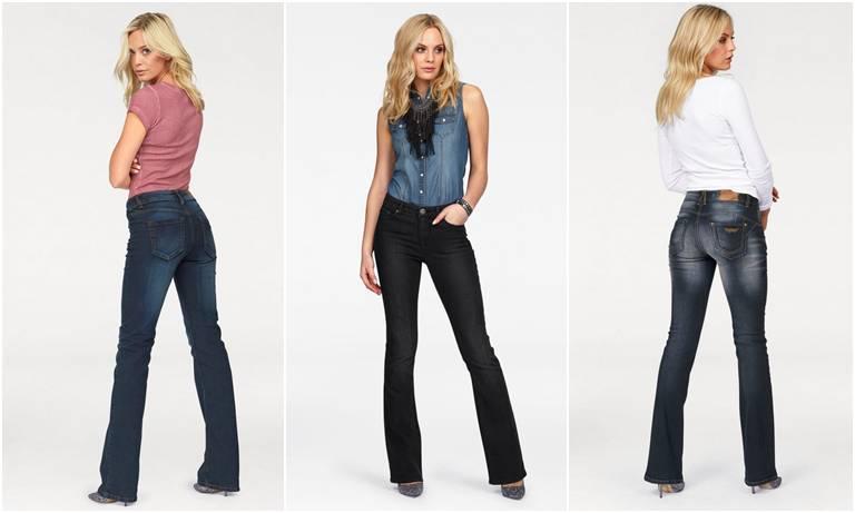 джинсы клёш женские