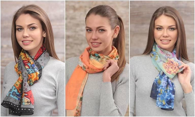 женский яркий шарфик