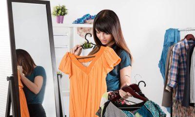 девушка шкаф одежда