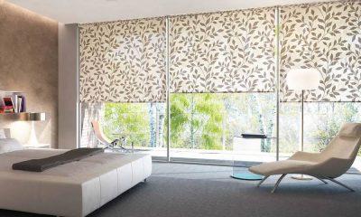 рулонные шторы на окна в спальню
