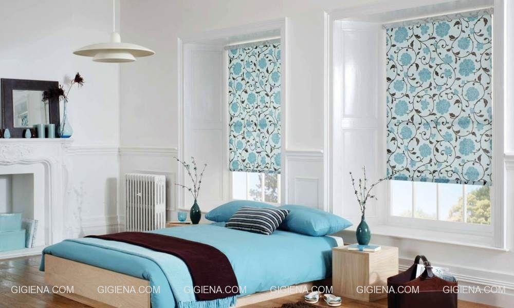 рулонные шторы на пластиковые окна для спальни