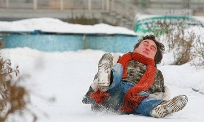 причина зимнего травматизма