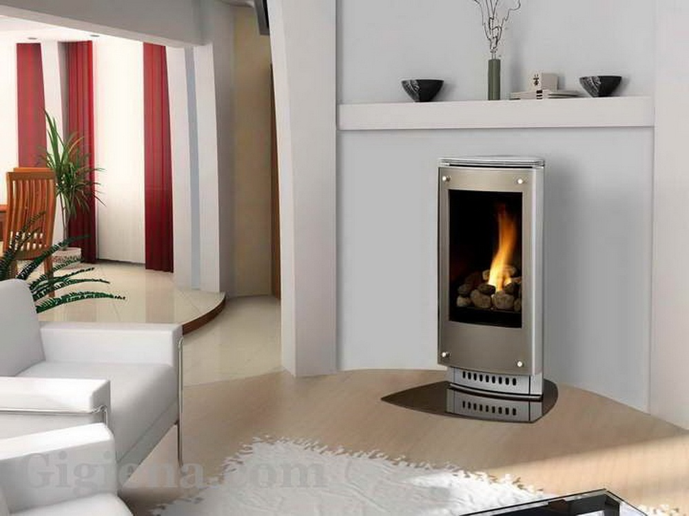 газовое отопление камин
