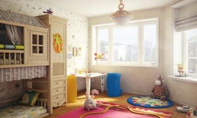 окна в детской комнате