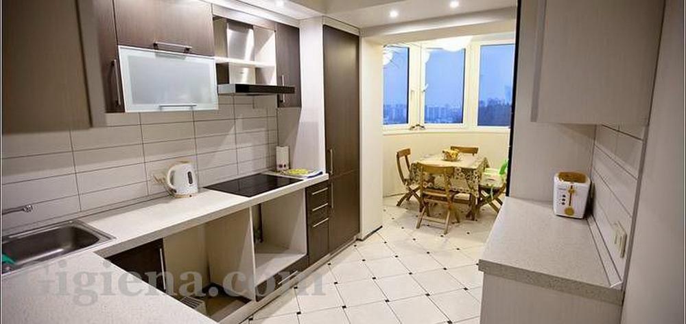 как сделать кухню на балконе