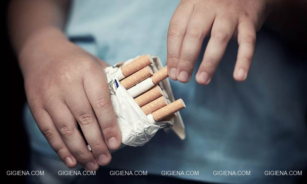 юный курильщик