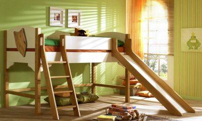детская кровать чердак с игровой зоной фото