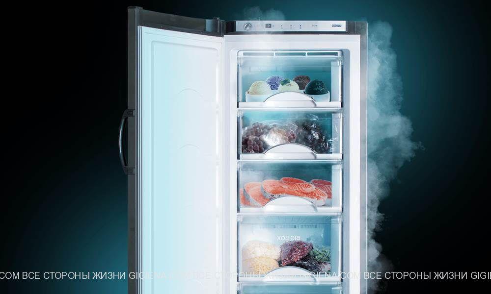 вертикальная морозильная камера